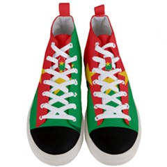 Flag Of Burkina Faso Men s Mid Top Canvas Sneakers