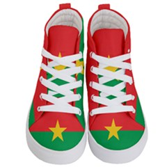 Flag Of Burkina Faso Kid s Hi Top Skate Sneakers