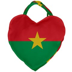 Flag Of Burkina Faso Giant Heart Shaped Tote