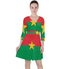 Flag Of Burkina Faso Ruffle Dress
