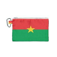 Flag Of Burkina Faso Canvas Cosmetic Bag (small)