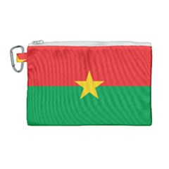 Flag Of Burkina Faso Canvas Cosmetic Bag (large)