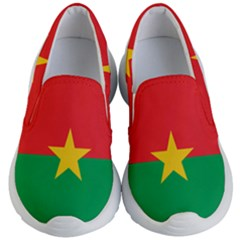 Flag Of Burkina Faso Kid s Lightweight Slip Ons