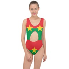 Flag Of Burkina Faso Center Cut Out Swimsuit