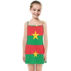 Flag Of Burkina Faso Kids Summer Sun Dress