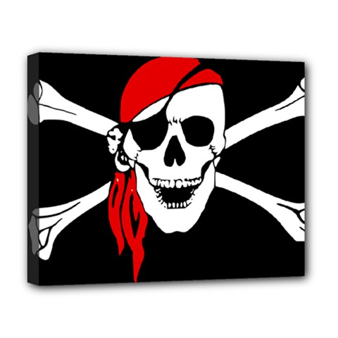 Pirate Skull Deluxe Canvas 20  X 16