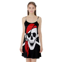 Pirate Skull Satin Night Slip