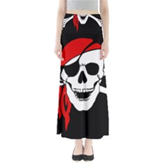 Pirate Skull Full Length Maxi Skirt