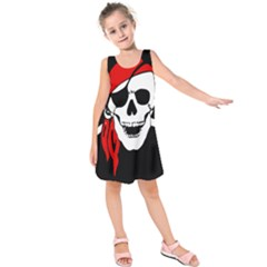 Pirate Skull Kids  Sleeveless Dress