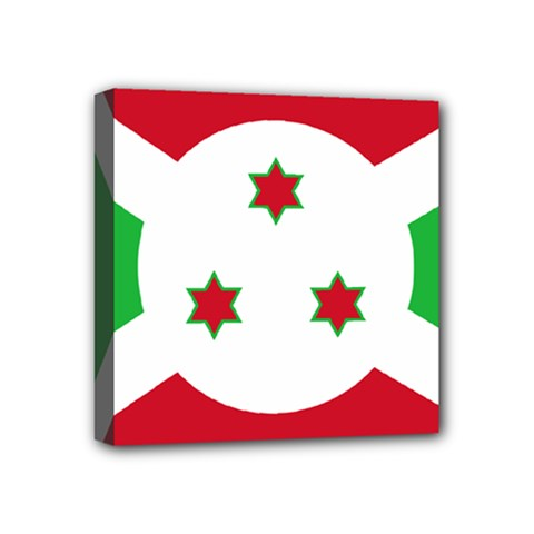 Flag Of Burundi Mini Canvas 4  X 4