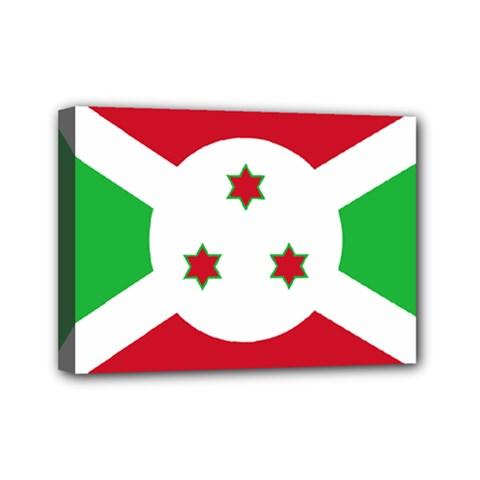 Flag Of Burundi Mini Canvas 7  X 5