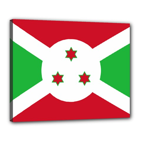 Flag Of Burundi Canvas 20  X 16