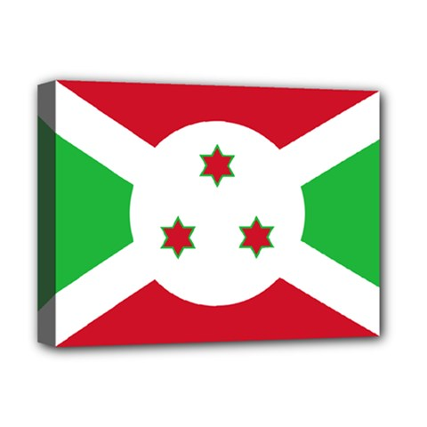 Flag Of Burundi Deluxe Canvas 16  X 12   by abbeyz71