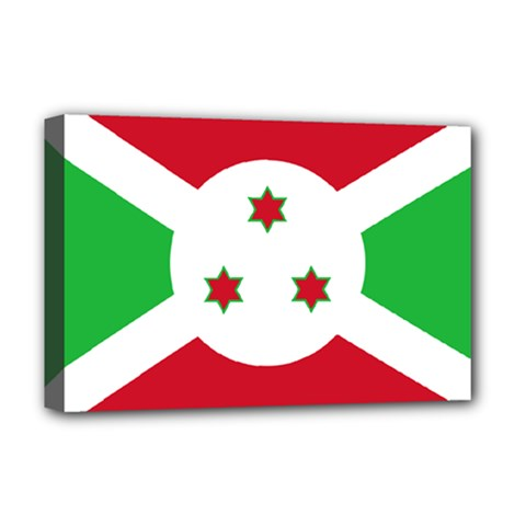 Flag Of Burundi Deluxe Canvas 18  X 12   by abbeyz71