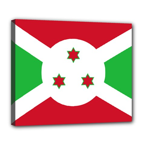 Flag Of Burundi Deluxe Canvas 24  X 20