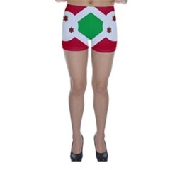 Flag Of Burundi Skinny Shorts