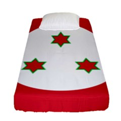 Flag Of Burundi Fitted Sheet (single Size)
