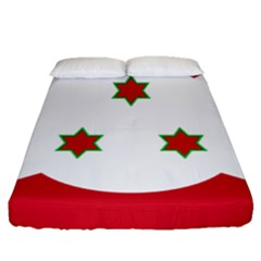 Flag Of Burundi Fitted Sheet (queen Size)