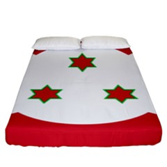 Flag Of Burundi Fitted Sheet (king Size)