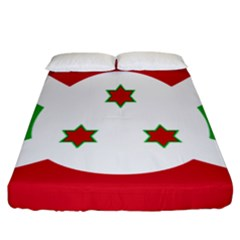 Flag Of Burundi Fitted Sheet (california King Size)