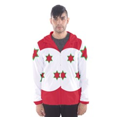 Flag Of Burundi Hooded Wind Breaker (men)