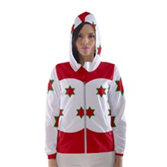 Flag Of Burundi Hooded Wind Breaker (women)