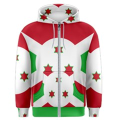 Flag Of Burundi Men s Zipper Hoodie