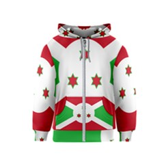 Flag Of Burundi Kids  Zipper Hoodie