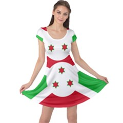 Flag Of Burundi Cap Sleeve Dress
