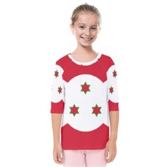 Flag Of Burundi Kids  Quarter Sleeve Raglan Tee