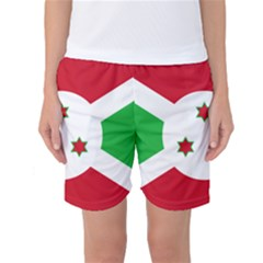 Flag Of Burundi Women s Basketball Shorts