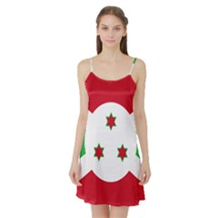 Flag Of Burundi Satin Night Slip