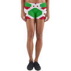 Flag Of Burundi Yoga Shorts