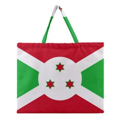 Flag Of Burundi Zipper Large Tote Bag