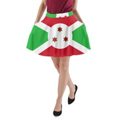 Flag Of Burundi A Line Pocket Skirt