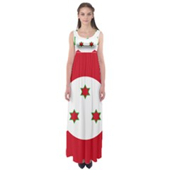 Flag Of Burundi Empire Waist Maxi Dress