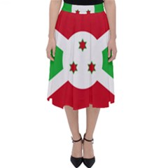 Flag Of Burundi Folding Skater Skirt