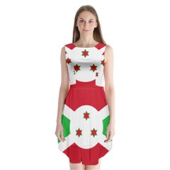 Flag Of Burundi Sleeveless Chiffon Dress