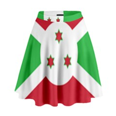Flag Of Burundi High Waist Skirt