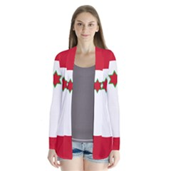 Flag Of Burundi Drape Collar Cardigan
