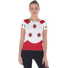 Flag Of Burundi Short Sleeve Sports Top