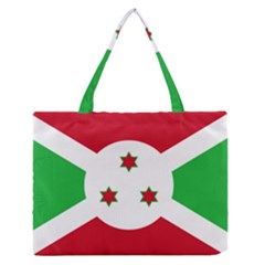 Flag Of Burundi Zipper Medium Tote Bag