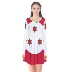 Flag Of Burundi Flare Dress