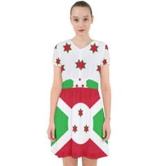 Flag Of Burundi Adorable In Chiffon Dress