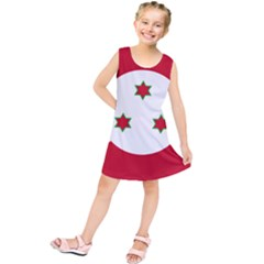 Flag Of Burundi Kids  Tunic Dress
