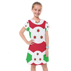 Flag Of Burundi Kids  Drop Waist Dress