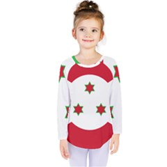 Flag Of Burundi Kids  Long Sleeve Tee