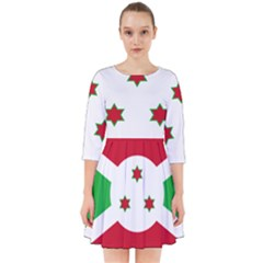 Flag Of Burundi Smock Dress