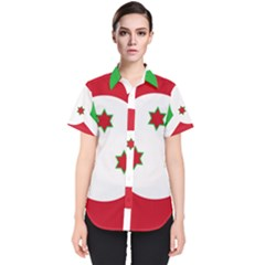 Flag Of Burundi Women s Short Sleeve Shirt
