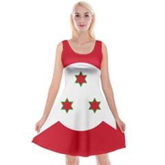 Flag Of Burundi Reversible Velvet Sleeveless Dress